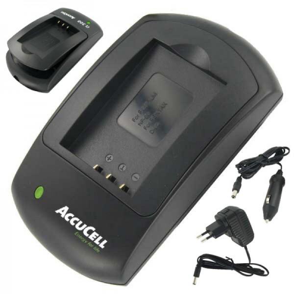 AccuCell snellader geschikt voor Nikon 1 V2 batterij, EN-EL21 batterij