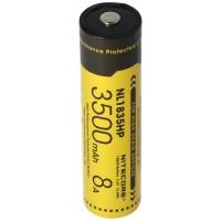 Nitecore Li-Ion batterij 18650 3500 mAh NL1835HP, afmetingen ca. 69,4 x 18,3 mm