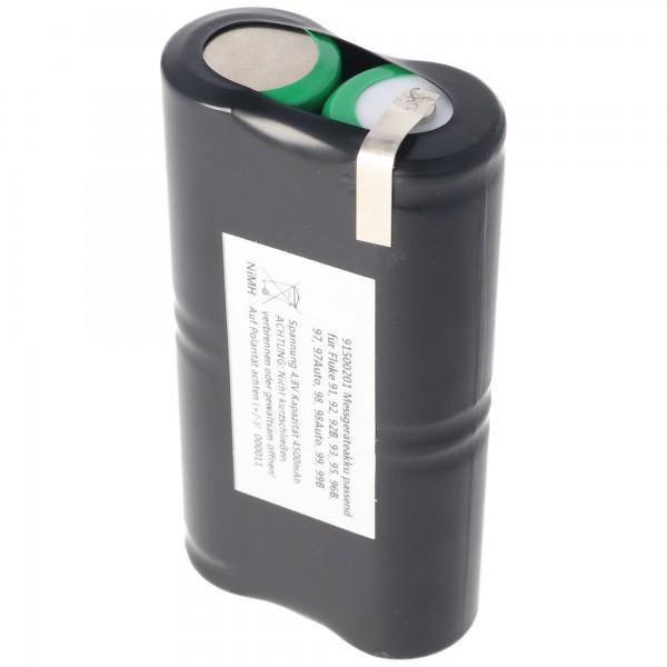 Batterij NiMh geschikt voor de Fluke ScopeMeter PM9086 / 11 batterij 4,8 volt, 3000mAh