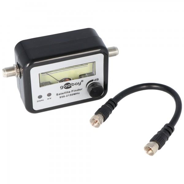 Satellietzoeker het meetapparaat met geluid incl. F-verbindingskabel