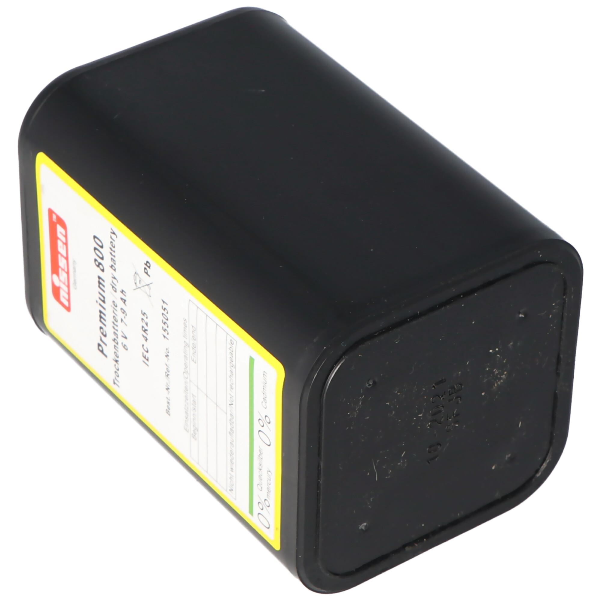 Nissen 4R25 Premium 800 6V 7-9Ah Dry Battery 6 Volt FOR SITE LIGHTS