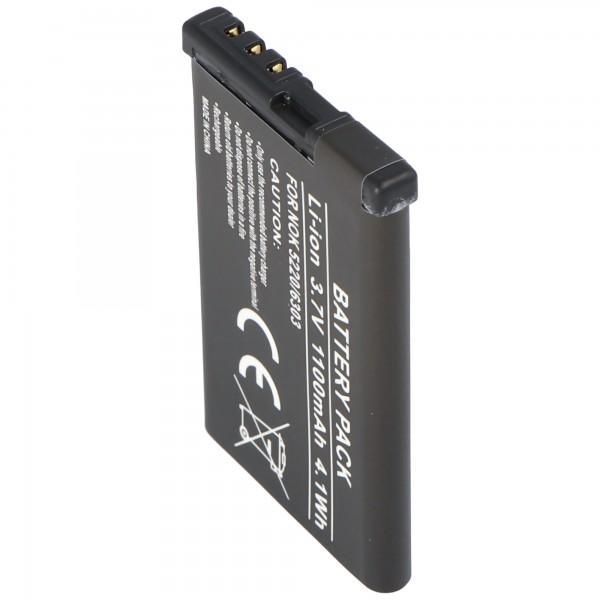 AccuCell-batterij geschikt voor Nokia 5220 XpressMusic batterij 6303 classic BL-5CT