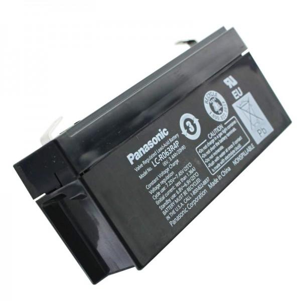 Panasonic LC-R063R4PG PB loodbatterij 6 volt, 3.4Ah