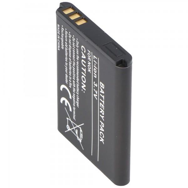AccuCell-batterij geschikt voor Nokia 5070, BL-5B, 720mAh