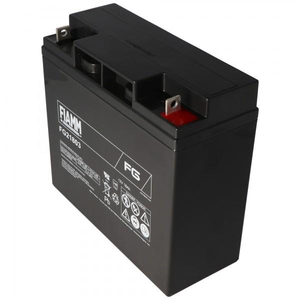 Fiamm FG21803 12V-batterij 18Ah, niet geschikt als startaccu