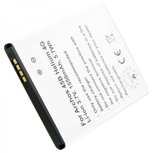 Accu geschikt voor de Archos 45 Helium, 45G Helium 4G batterij AC300CA