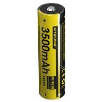Nitecore Li-ion batterij 18650 3,6 volt, 3500 mAh afmetingen 68x18,3 mm met micro-USB-oplaadpoort, NL1835R NC-18650 / 35R