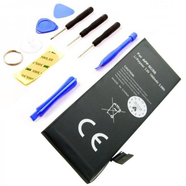 Batterij geschikt voor Apple iPhone 5C Li-Polymer 616-0667 batterij, 616-0720 batterij met gereedschap