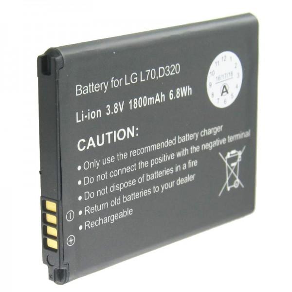 AccuCell-batterij geschikt voor LG D320, L70-batterij BL-52UH