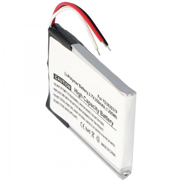 Batterij YD362937P voor GoPro ARMTE-001 GoPro Wi-Fi Remote (niet origineel)