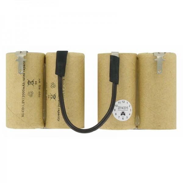 NiCd accu geschikt voor de Black & Decker Dustbuster accu 4,8 volt zonder behuizing