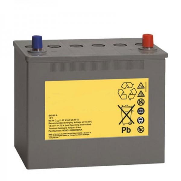 Batterij voor Poliscan Speed Vitronic, vervangende batterij 12 volt 60Ah A-polige aansluiting