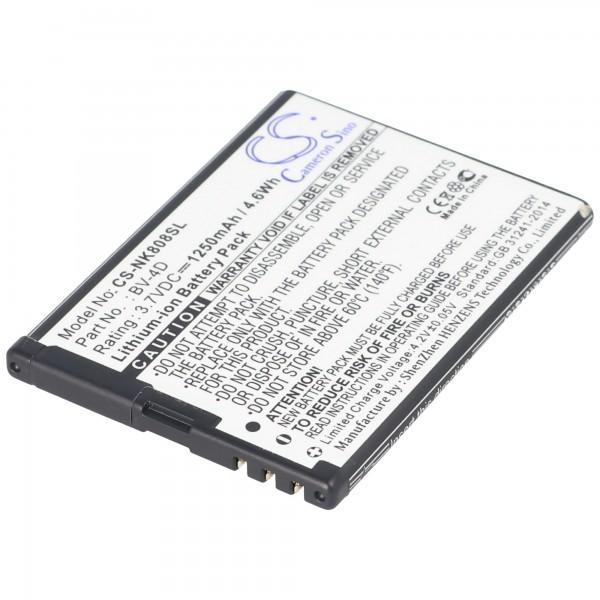 AccuCell-batterij geschikt voor Nokia 808 PureView, N9, BV-4D