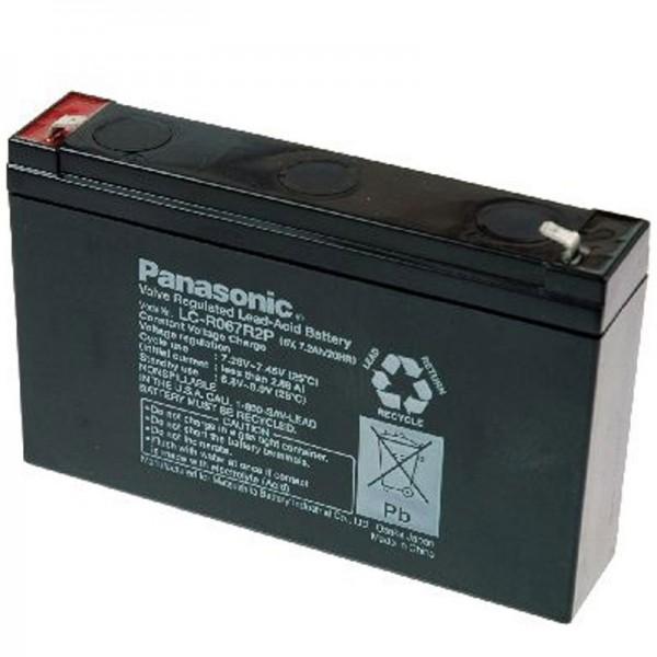 Panasonic BT-6M7.0AC loodbatterij met 6 volt en 7200 mAh