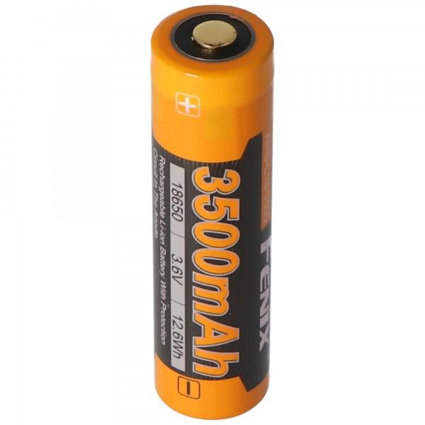 Fenix ARB-L18-3500 Li-ionbatterij 18650, capaciteit van 3500 mAh beschermd