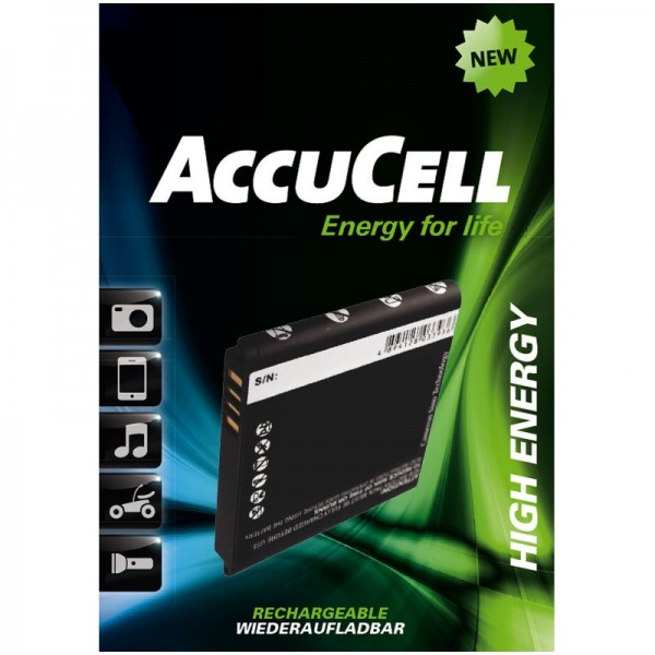 AccuCell-batterij geschikt voor HTC HD mini, HTC Photon, HTC T5555