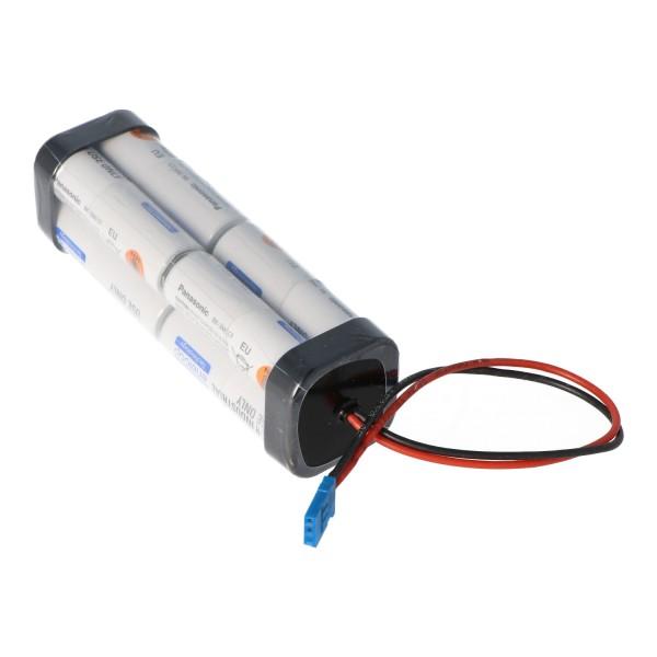 Servobatterij Panasonic Eneloop AA 8-delige kubus 9,6 volt 2000 mAh geschikt voor Futaba-servo