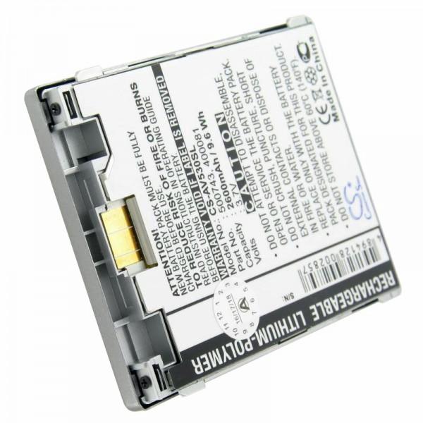Batterij geschikt voor Archos AV530, 400081, 400084, 500738