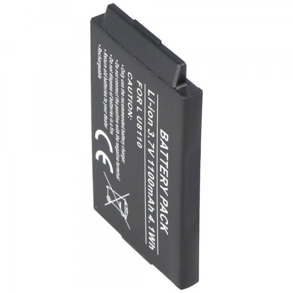 AccuCell-batterij geschikt voor LG U8120, 1000 mAh