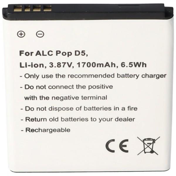 Batterij geschikt voor de Alcatel Pop D5 batterij TLi018D1