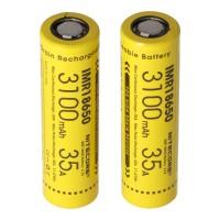 Nitecore 18650IMR Li-Ion batterij 3100mAh / 35A, set bestaande uit 2 stuks