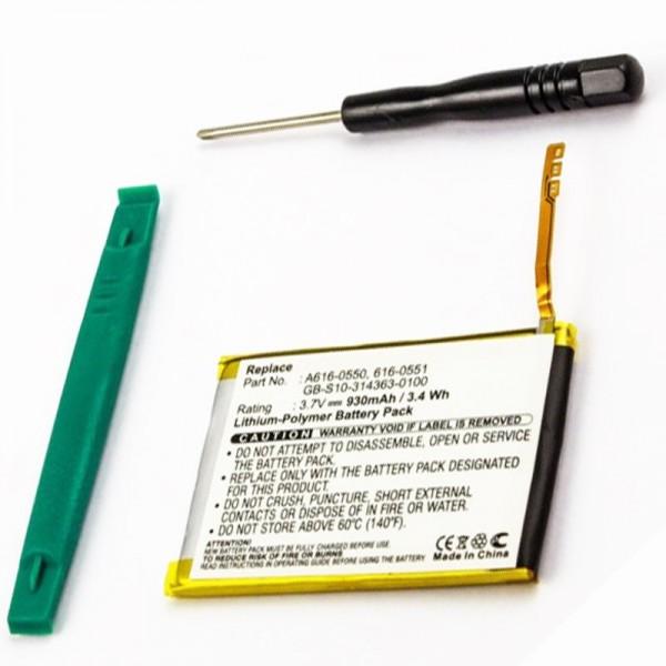Batterij geschikt voor Apple iPod Touch 4e generatie 616-0551, 616-0550
