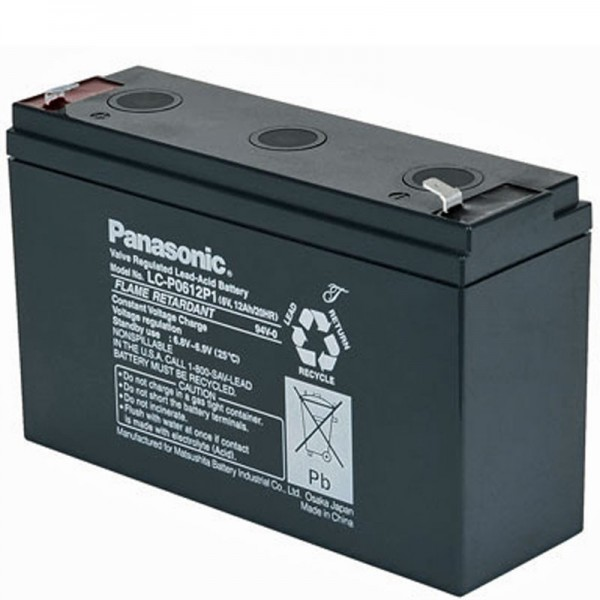 Panasonic LC-R0612P1 PB loodbatterij 6 volt, 12ah