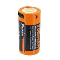 Fenix ARB-L16-700UP beschermde Li-ionbatterij 16340 RC123A voor PD25 PD22UE, met USB-oplaadaansluiting