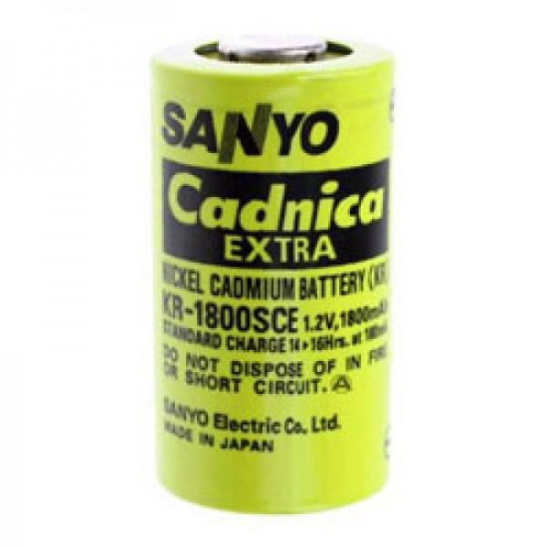 Sanyo KR-1800SCE batterij Sub-C enkele cel zonder soldeertag