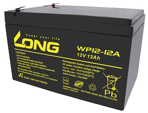 Kung Long WP12-12, 12Volt, 12Ah VDS G100036, Faston 6,3 mm