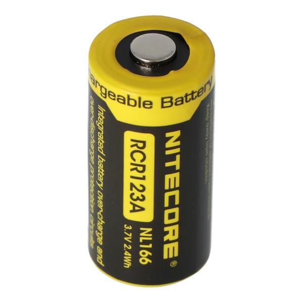 CR123A NiteCore 16340 Li-ionbatterij 2 / 3A-cel voor 3,7 volt lampen 650mAh