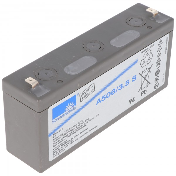 Sonnenschein Dryfit A506 / 3.5S loodbatterij, aansluiting 4,8 mm