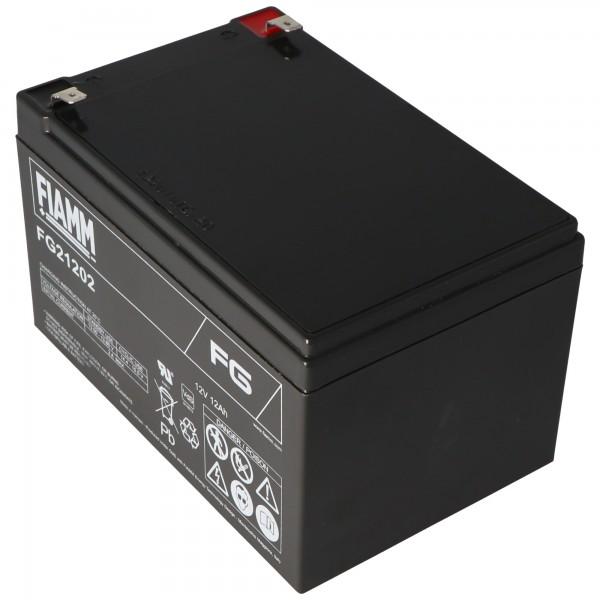 Fiamm FG21202 batterij 12Ah MET fASTON 6.3MM stekkercontacten