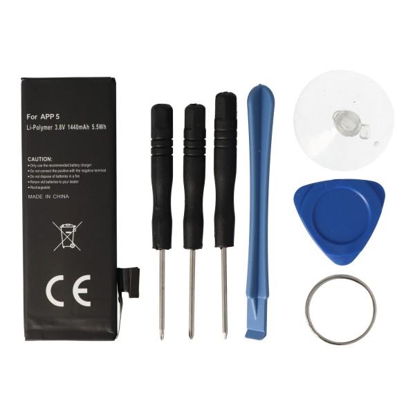 AccuCell-batterij geschikt voor Apple iPhone 5-batterij 616-0611, 616-0613, A1429
