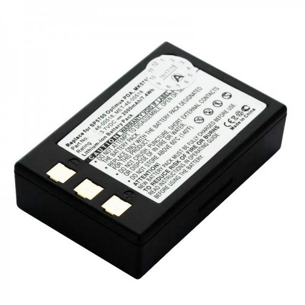 Batterij geschikt voor Metrologic SP5700-scanner, Optimus PDA, MK5710-batterij 46-00518, MET-46-00518