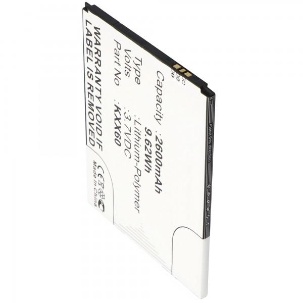 Accu geschikt voor Kazam Trooper 2 6.0, Trooper 2 X6.0 3.7 volt 2600mAh
