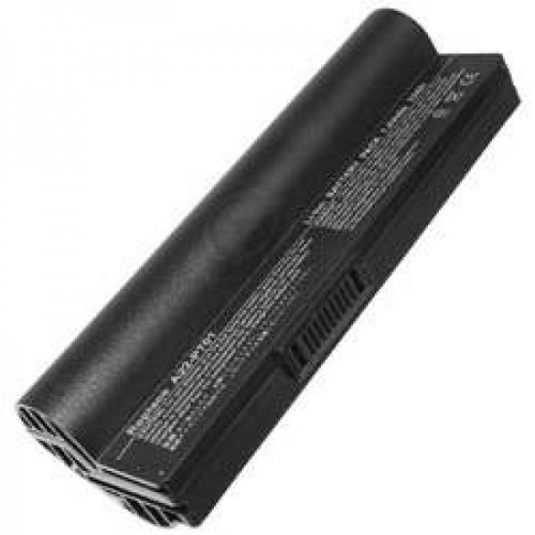 AccuCell-batterij geschikt voor Asus Eee PC, 6600 mAh zwart