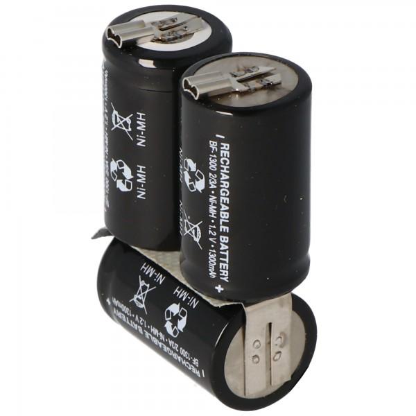 Wella Expert HS50 NiMH oplaadbare batterij van AccuCell met 1300 mAh