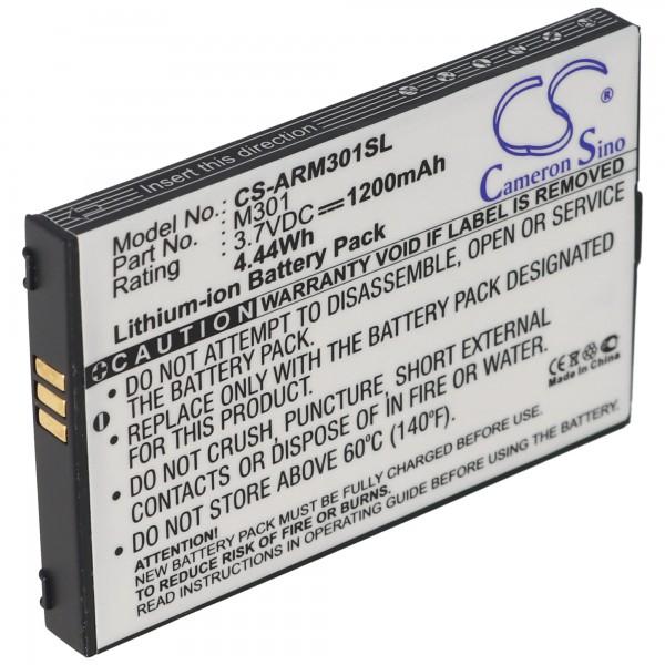 AccuCell-batterij geschikt voor Auro M301 batterij voor mobiele telefoon