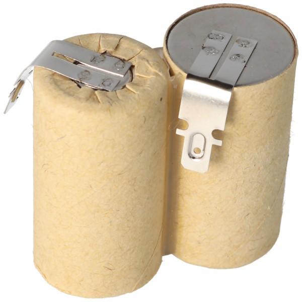 AccuCell-batterij geschikt voor handstofzuiger 2,4 volt