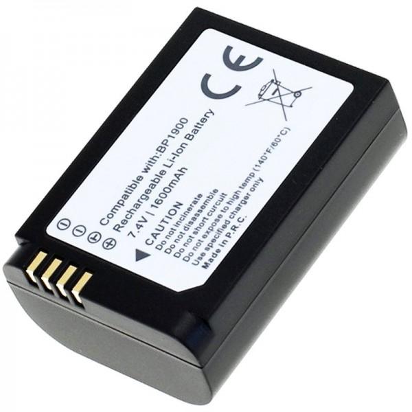 AccuCell-batterij geschikt voor Samsung NX1-batterij BP1900 met 1600 mAh