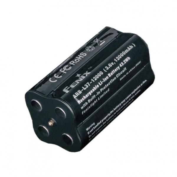 Batterij geschikt voor de Fenix LR40R LED-zaklamp, Fenix ARB-L37-12000 LiIon-batterijpakket voor LR40R