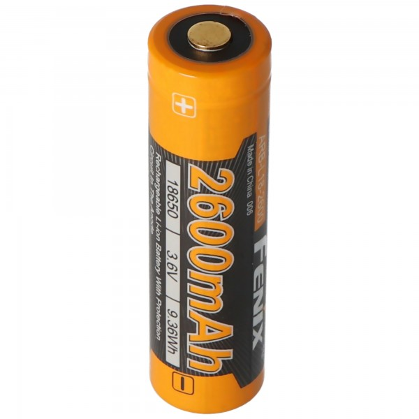 Fenix ARB-L2 18650 Li-ionbatterij beschermd 2600 mAh, nieuwe versie 2016
