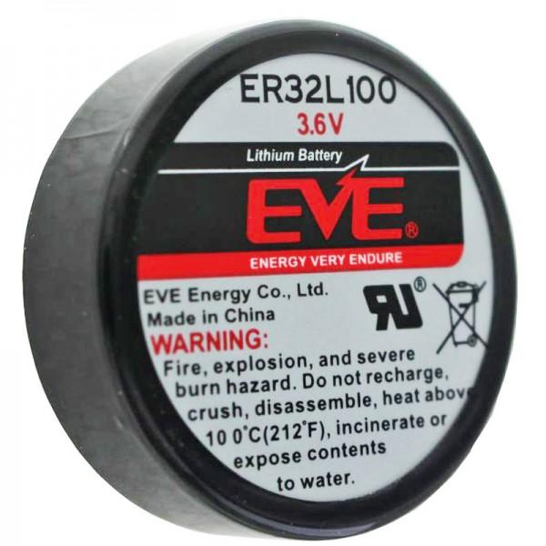 EVE ER32L100 lithiumbatterij 1/6 D mono 3,6 volt 1700 mAh, 3-pack, EVE ER32L100 1 / 6D 3.6V