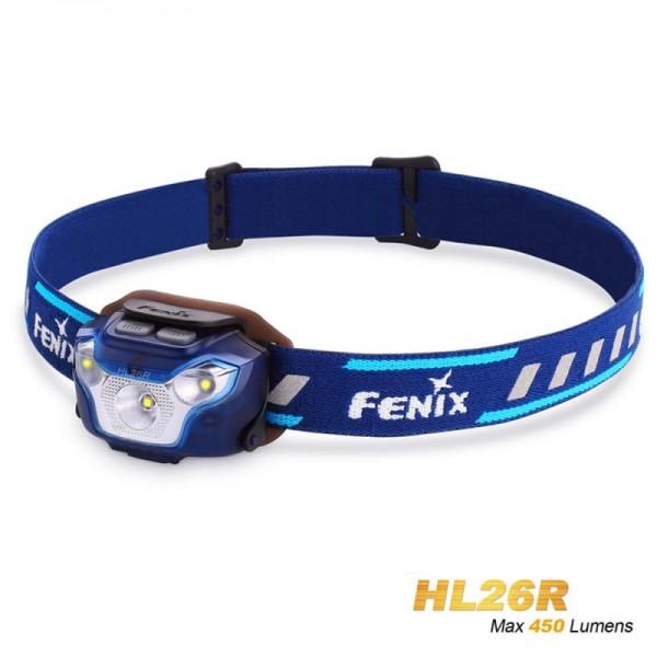Fenix HL26R LED-koplamp blauw met Li-polymeerbatterij 1600 mAh