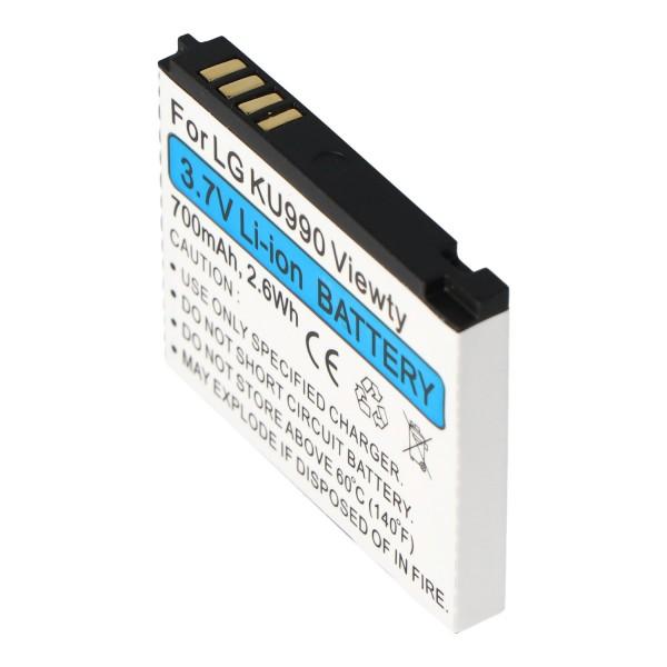 AccuCell-batterij geschikt voor LG Shine HB620T, KE998, KU990, CU915