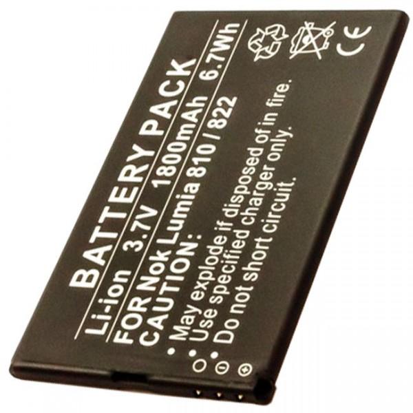 AccuCell-batterij geschikt voor Nokia Lumia 810-batterij 822, Nokia-batterij BP-4W