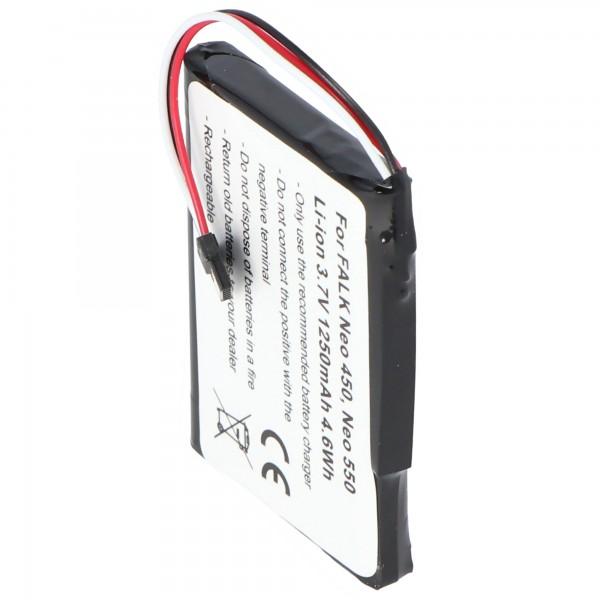 Batterij geschikt voor de FALK Neo 450 batterij Neo 550 met 3.7V en 1250mAh
