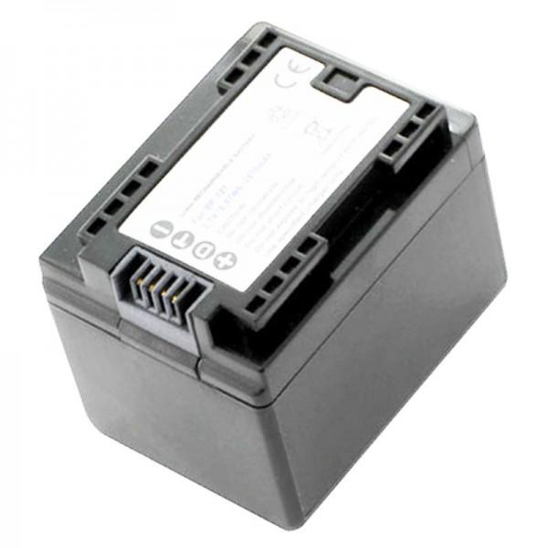 Canon BP-727 vervangende batterij van AccuCell geschikt voor Canon LEGRIA HF M52