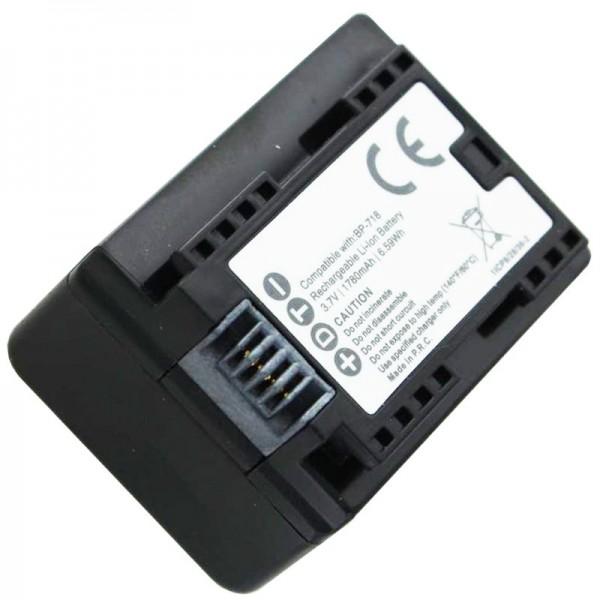 Canon BP-718 vervangende batterij van AccuCell geschikt voor Canon LEGRIA HF M52
